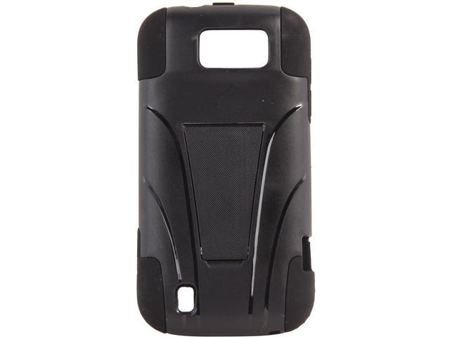 AMZER Black / Black Double Layer Hybrid Case with Kickstand For ZTE Flash N9500 AMZ95395