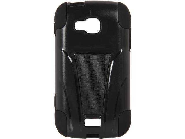 AMZER Black / Black Double Layer Hybrid Case with Kickstand For Samsung ATIV Odyssey SCH-I930 AMZ95392