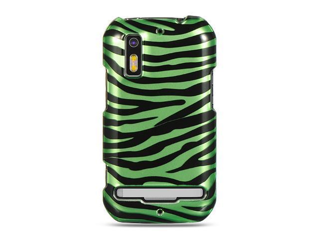 Motorola Photon 4G MB855 Green Zebra Design Crystal Case
