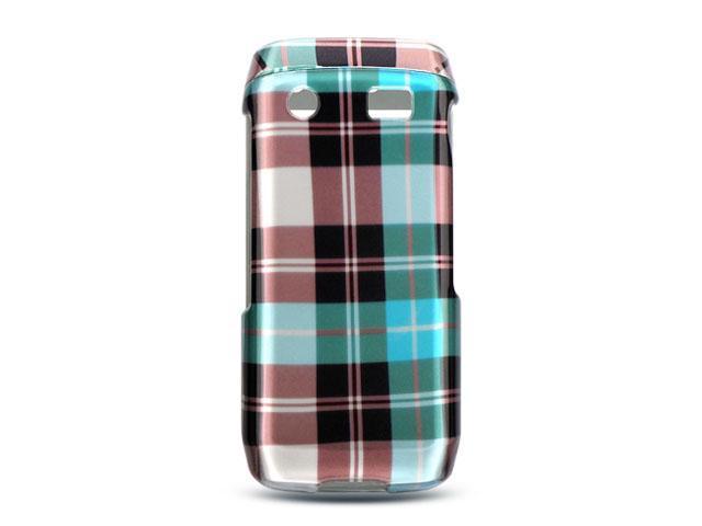 BlackBerry Pearl 9100 Blue Checker Design Crystal Case