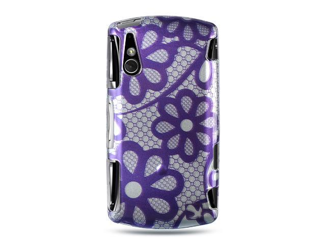 Sony Ericsson Xperia Play Purple Lace Design Crystal Case