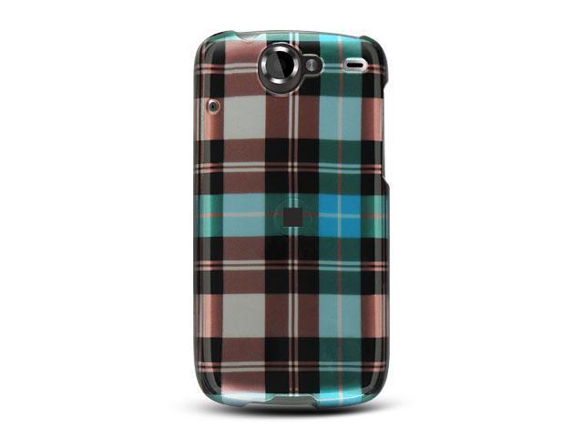 Google Nexus 1 Blue Checker Design Crystal Case