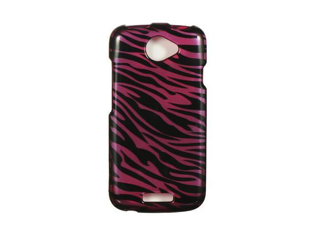 HTC Ville/HTC One S Plum Zebra Design Crystal Case