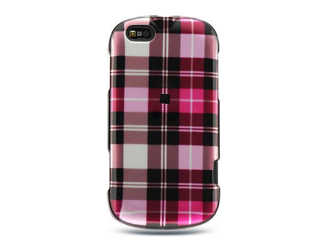 Motorola Cliq XT/Motorola Quench Hot Pink Checker Design Crystal Case