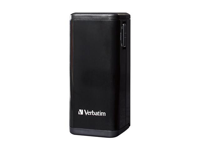 Verbatim Black 4 x AA Battery Power Pack Charger 97928