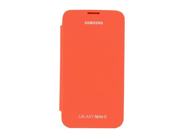 SAMSUNG Orange Flip Cover For Galaxy Note 2 EFC-1J9FOEGSTA