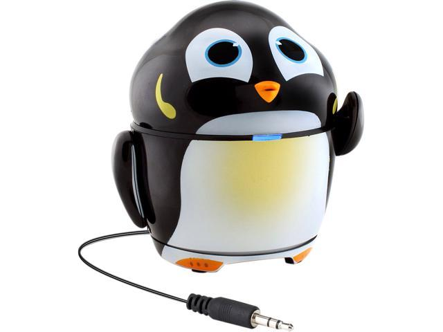 GOgroove 3.5mm Groove Pal Penguin Portable Rechargeable Speaker w/ Dual High-Excursion Drivers GG-PAL-PENGUIN