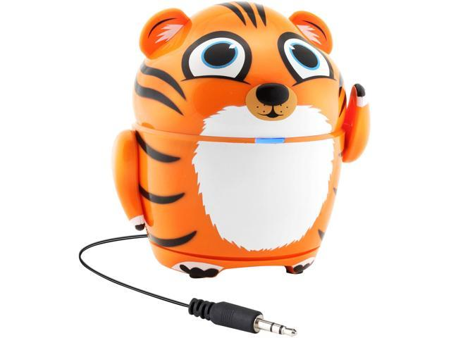 GOgroove 3.5mm Groove Pal Tiger Portable Rechargeable Speaker w/ Dual High-Excursion Drivers GG-PAL-TIGER
