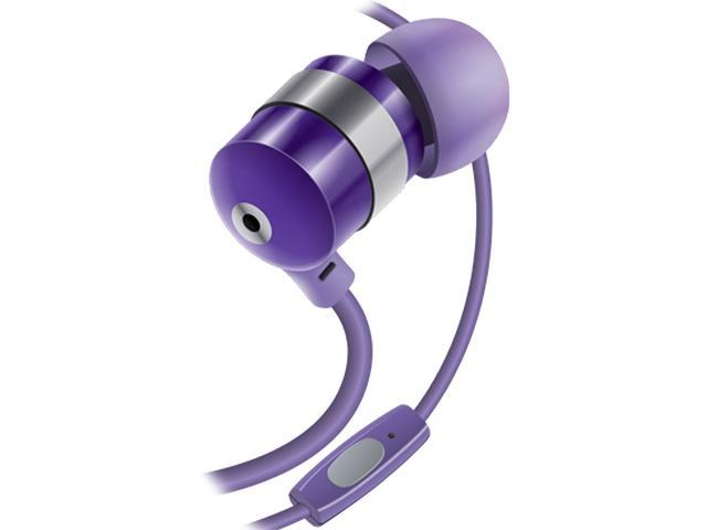 GOgroove AudiOHM HF Purple Earbud Headphones with Noise Isolation & Built-in Microphone - Use with Apple iPhone 6s, Samsung ...
