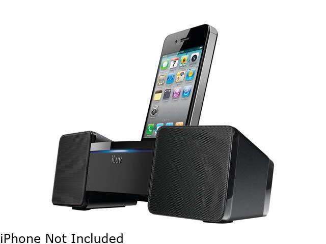iLuv Black 3.5mm Stereo Speaker Dock for iPhone / iPod iMM286BLK