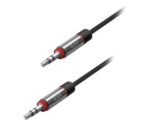 iLive iCB117BLK Black Premium Coiled Aux-in Audio Cable