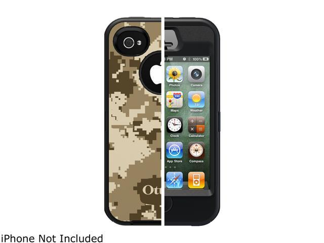 OtterBox Defender Desert IMD Design (Black/Black) Solid Case For iPhone 4/4S 77-18630