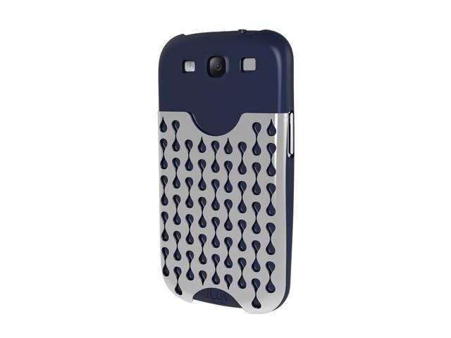 iLuv Frill Blue Hardshell Case Pocket for Samsung GALAXY S III ISS247