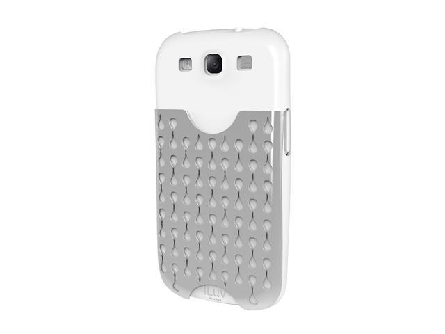 iLuv Frill White Hardshell Case Pocket for Samsung GALAXY S III ISS247