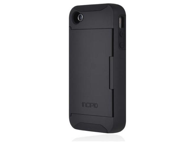 Incipio Stowaway Black Solid Credit Card Hard Shell Case for iPhone 4/4S IPH-677