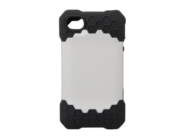 Incipio HIVE RESPONSE Dark Gray / White Honeycomb Hard Shell Case w/ Silicone Core For iPhone 4 / 4S IPH-687