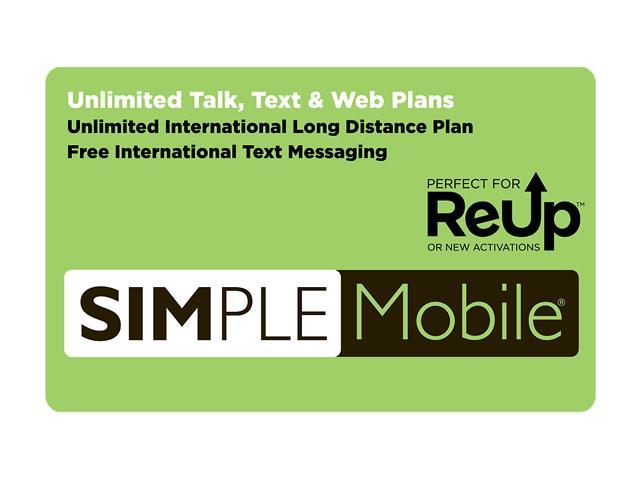 Simple Mobile $25 Re-Up Value International Calling or 150MB data $25