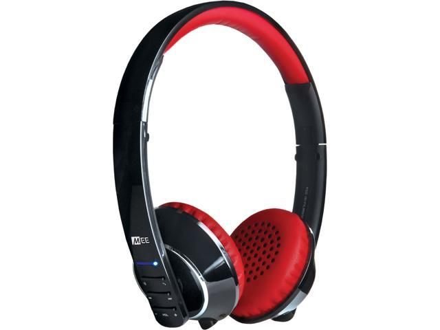 Mee audio Black/Red Air-Fi AF32 3.5mm Connector Binaural Stereo Bluetooth Headset w/ Hidden Microphone