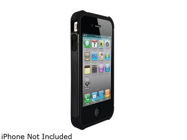 Ballistic Case Shell Gel (SG) Series Black / Black Shell Gel (SG) Series Case For iPhone 4/4S                                                          SA0582-M005