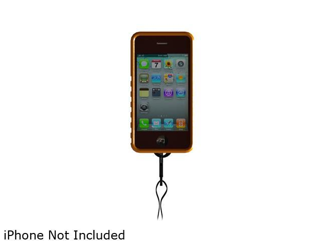 Snow Lizard TekBoot Smooth Orange Lanyard Case For iPhone 4 / 4S SLBOTSORG