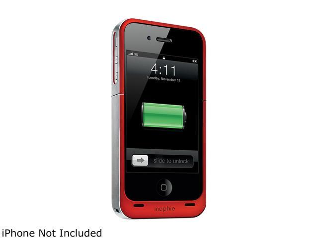 mophie Juice Pack Air Red 1500mAh Battery Case For iPhone 4 / 4S 1148_JPA-IP4-P-RED
