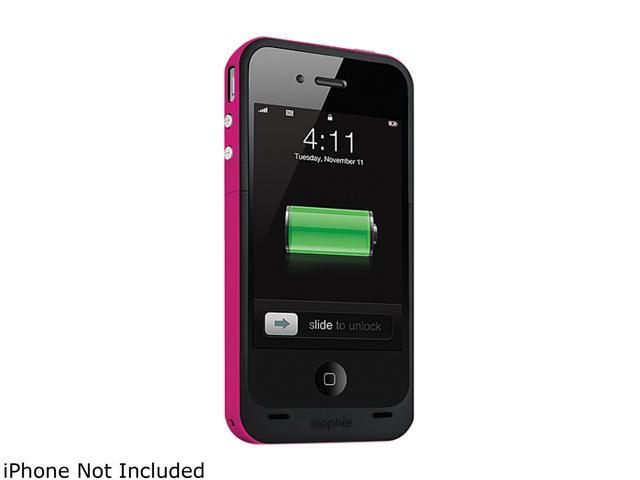 mophie Juice Pack Plus Magenta 2000mAh Battery Case For iPhone 4 / 4S 1162_JPP-IP4-MAG