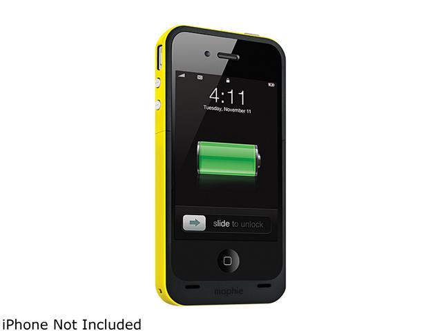 mophie Juice Pack Plus Yellow 2000mAh Battery Case For iPhone 4 / 4S 1163_JPP-IP4-YLW