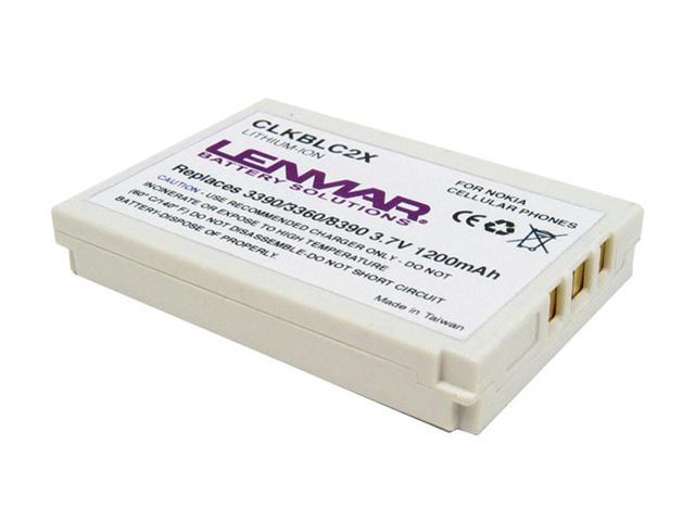 Lenmar 1100 mAh Replacement Battery for Nokia Cell Phones CLKBLC2X