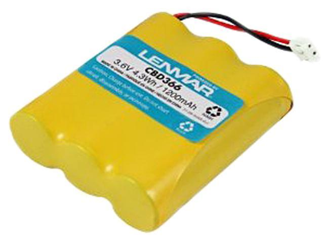 LENMAR CBD366 Replacement Battery for Cordless Phones using 3.6V 800mAh Nickel Cadmium