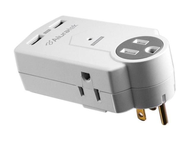 Aluratek AUCS05F White Mini Surge Dual USB Charging Station