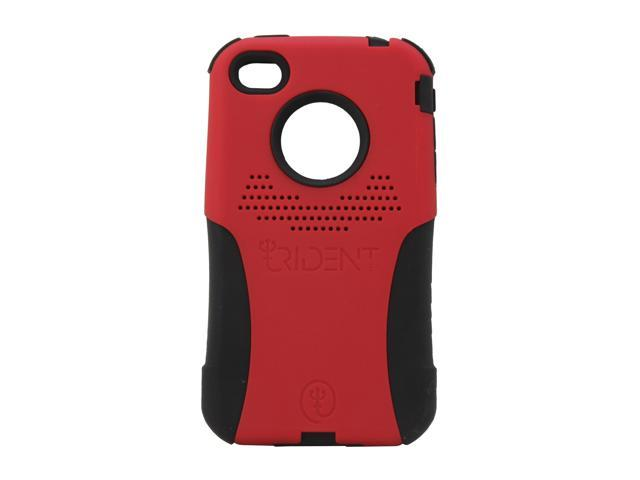 Trident Aegis Red Solid Aegis Case for iPhone 4/4S AG-IPH4-RD