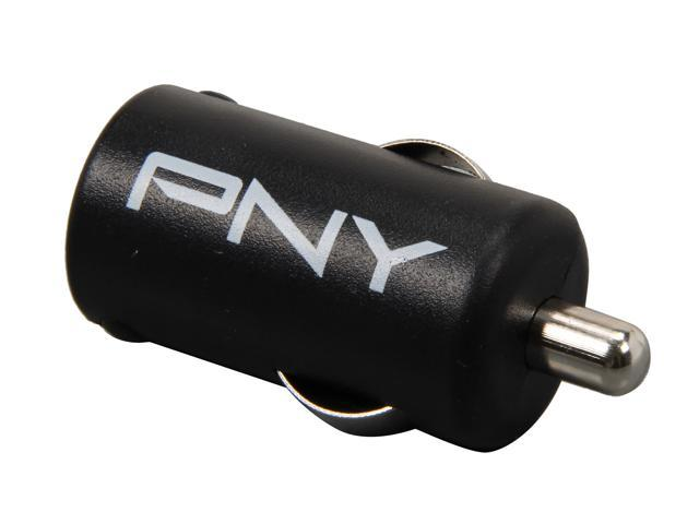 PNY P-P-DC-UF-K01-GE Black Rapid Universal USB Car Charger for Smartphones & Apple Devices w/12V DC @ 2.1A