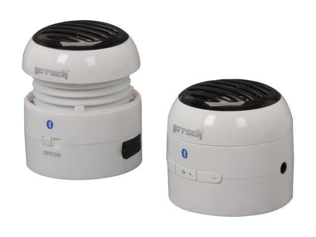 Go Rock TRMS02SB-WHT White Mini Bluetooth Speaker