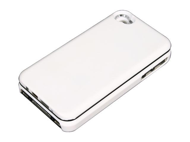 WorldCharge WC-ISLIDE4W White Case w/ Sliding Bluetooth Keyboard For iPhone 4/4S