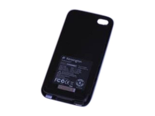 Kensington PowerGuard Blue Solid PowerGuard Battery Case with Card Stand for iPhone 4/4S K39288US
