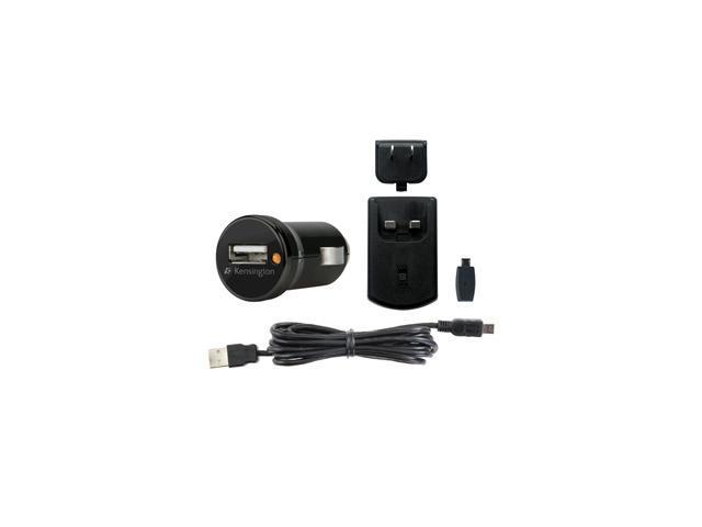 Kensington Black USB Car and Wall Charger for Smartphones (K39254US)