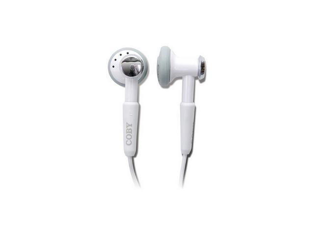 Coby White 2-in-1 Digital Stereo Earphones with Hands-free Kit CVM809