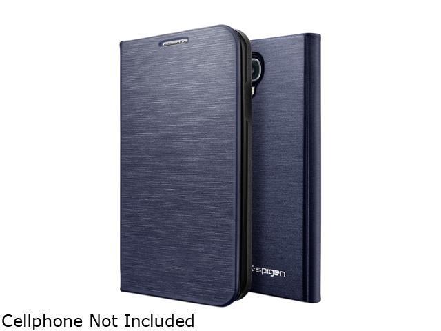 Spigen Slim Wallet Metallic Navy Case For Samsung Galaxy S4 SGP10285