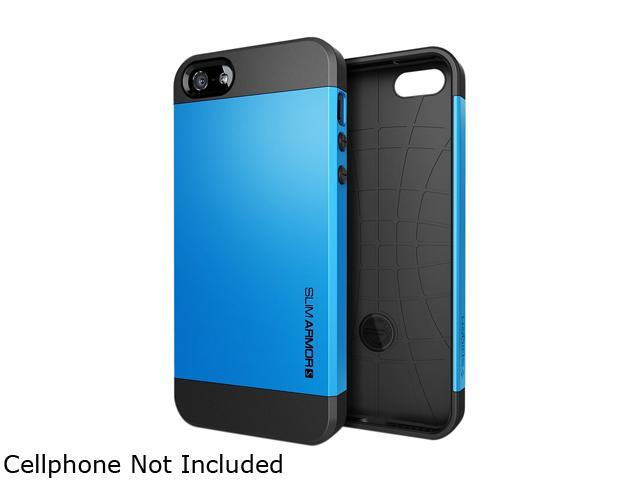 Spigen Slim Armor S Dodger Blue Spider Web Case For iPhone 5 / 5S SGP10474