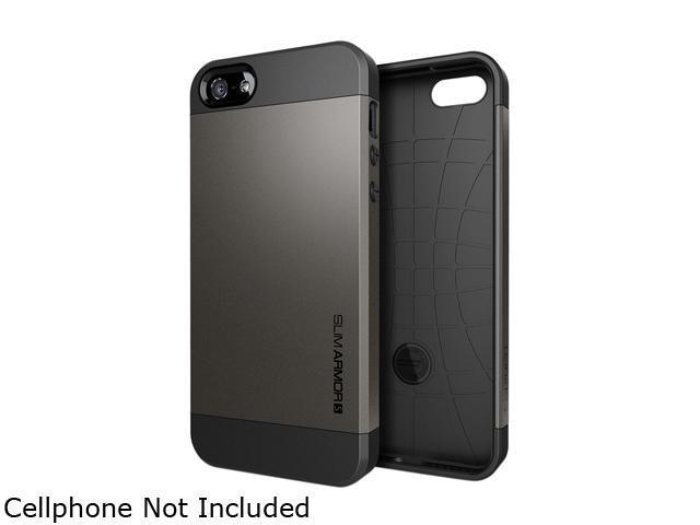 Spigen Slim Armor S Gunmetal Spider Web Case For iPhone 5 / 5S SGP10475