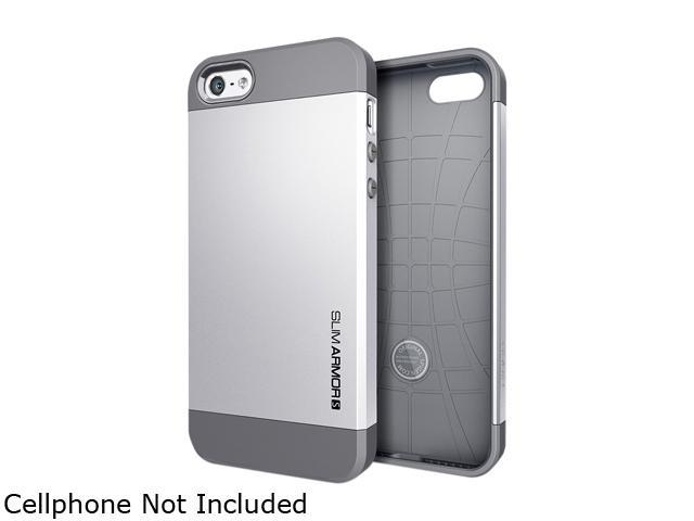 Spigen Slim Armor S Satin Silver Spider Web Case For iPhone 5 / 5S SGP10476
