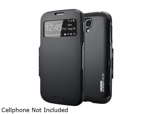 Spigen Slim Armor View Smooth Black Case For Galaxy S4 SGP10343