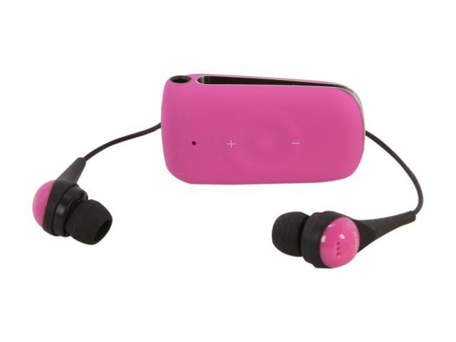 Jabra CLIPPER Pink Stereo Bluetooth Headset w/ Multiuse / DSP Technology (100-96800004-02)