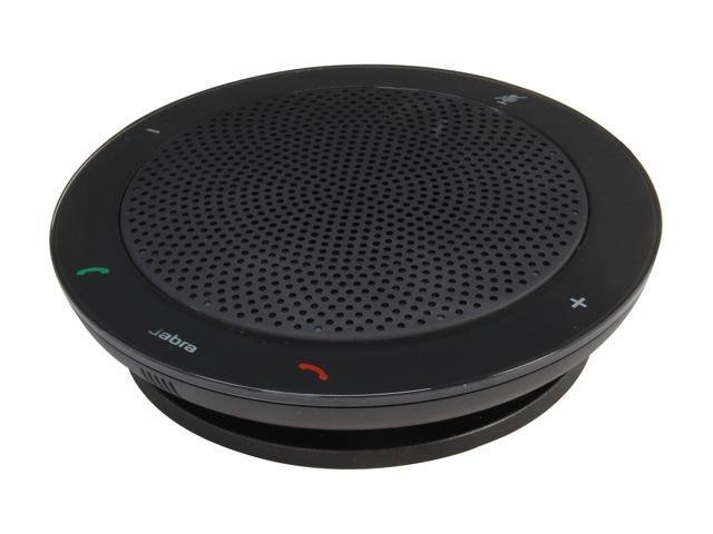 Jabra Black 3.5mm Portable Speakerphone with Wideband/DSP Technology (100-47300000-02) SPEAK 410 for PC