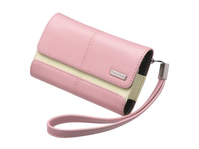 BlackBerry Pink Leather Folio w/Wrist Strap For Curve 8900 / Storm 9500 34-2090-01-RM