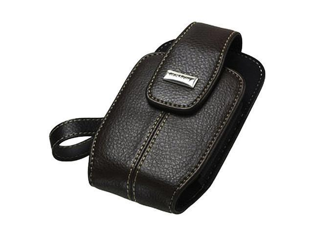 BlackBerry Dark Brown Embossed Leather Pouch With Wrist Strap For Curve 8300 HDW-15987-002