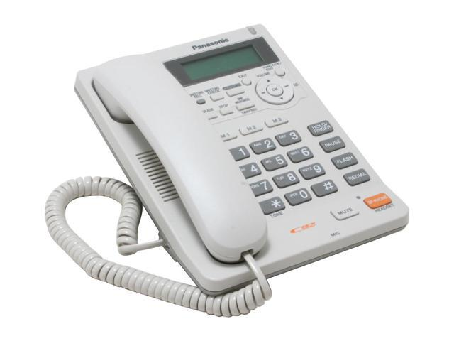 Panasonic KX-TS620W 1-line Operation Corded Phone Integrated Answering Machine