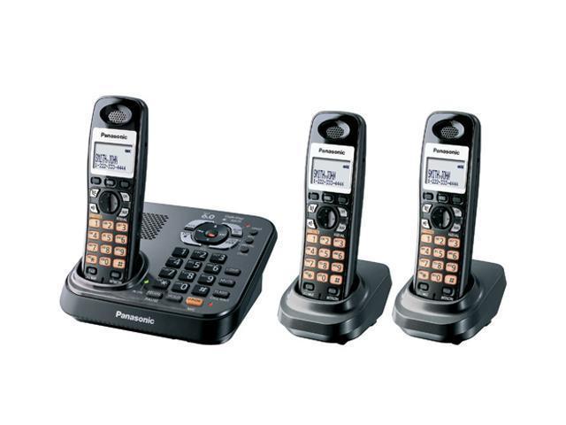 Panasonic KX-TG9343T 1.9 GHz Digital DECT 6.0 3X Handsets Expandable Phone System