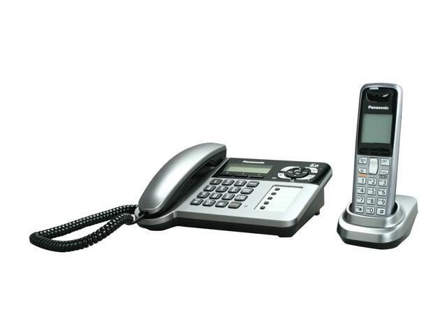 Panasonic KX-TG1061M 1.9 GHz Digital DECT 6.0 1X Handsets Cordless Phone Integrated Answering Machine