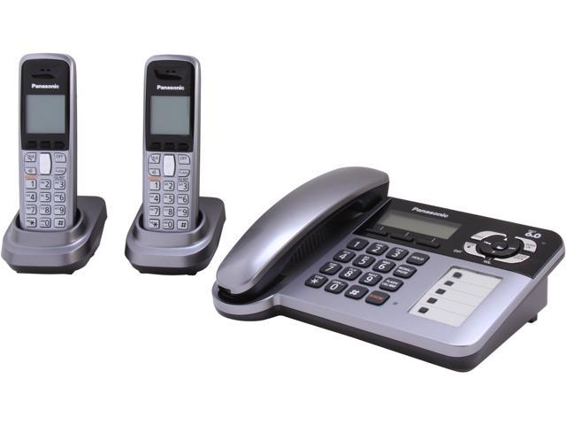 Panasonic KX-TG1062M 1.9 GHz Digital 2X Handsets Cordless Phone